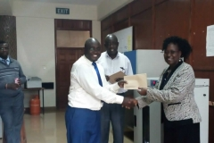 IFBT Awarding the Staff for good work