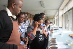 IFBT Staff at taste of harvest Traing - Coffee Tasting and Cupping